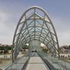 Friedensbrücke Tiflis Georgien